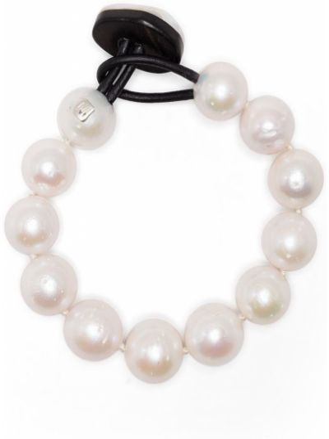 Biała bransoletka perły Monies