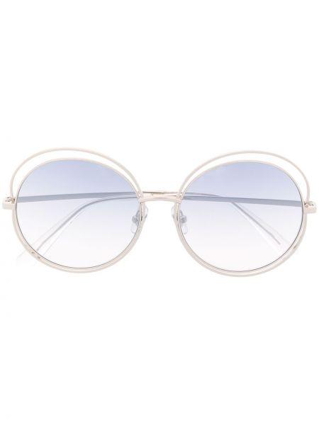 Okulary przeciwsłoneczne dla wzroku okrągły srebro Bolon