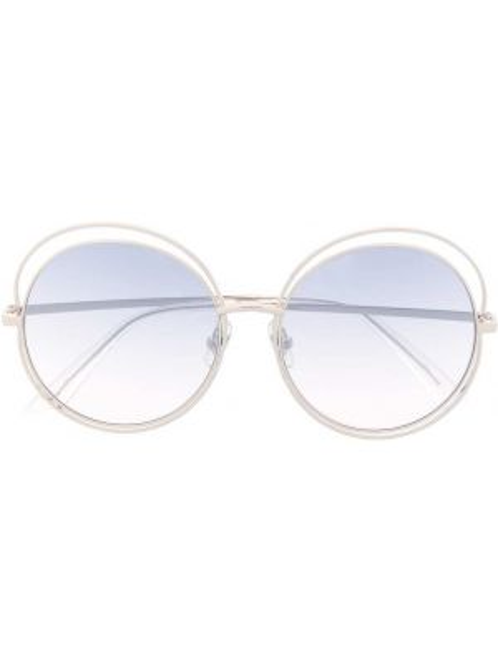 Okulary oversize khaki srebrne Bolon