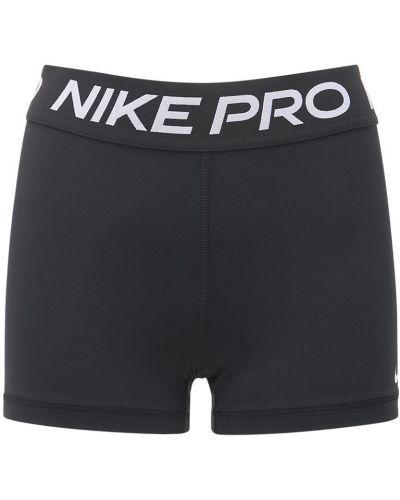 Черные шорты на резинке Nike