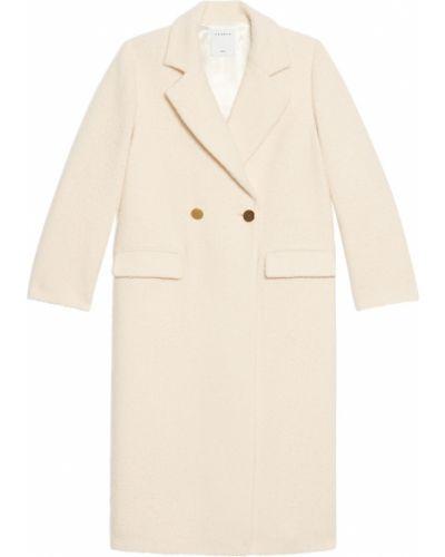 Пальто из альпаки - бежевое Sandro