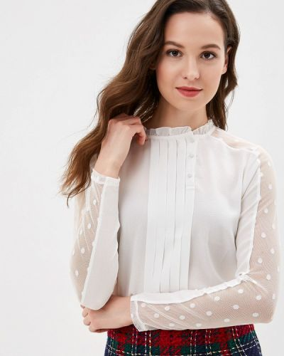 Блузка с длинным рукавом белая Naf Naf