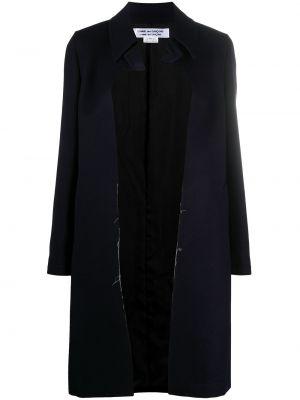 Облегающее синее шерстяное длинное пальто Comme Des Garçons Comme Des Garçons