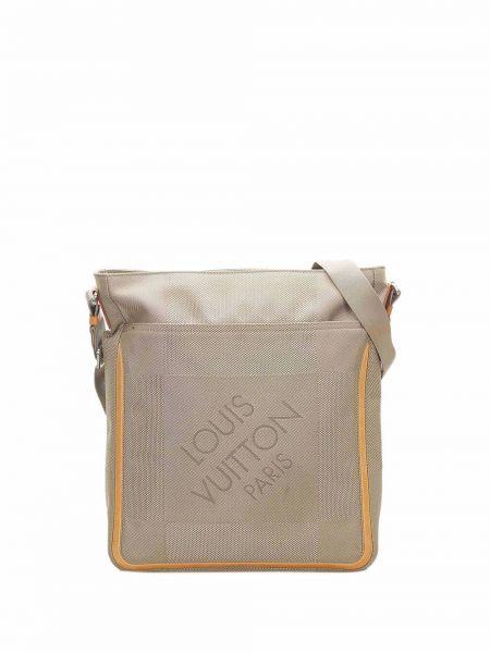 Коричневая сумка серебристая Louis Vuitton