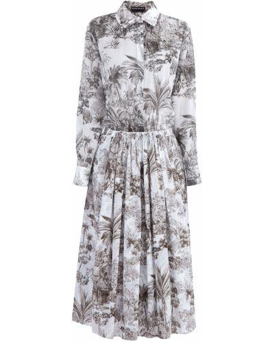 Платье на пуговицах с отложным воротником Rochas