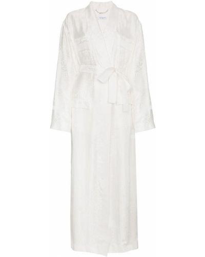 Белое пальто с поясом Givenchy