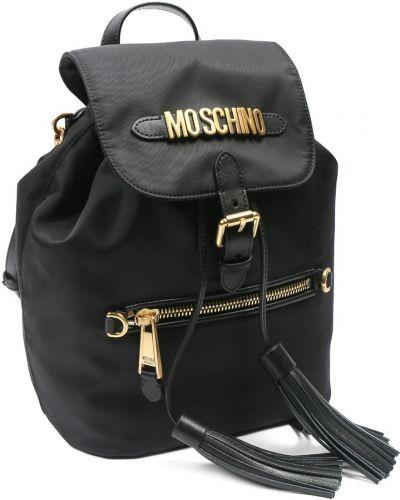 Рюкзак на молнии черный Moschino