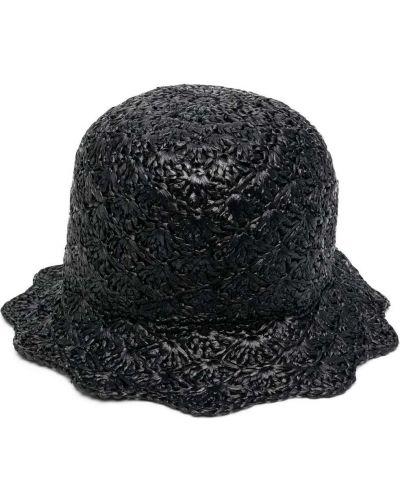 Czarny kapelusz z wiskozy Red Valentino