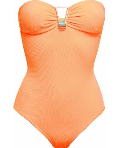 Купальник с оборками - оранжевый Melissa Odabash