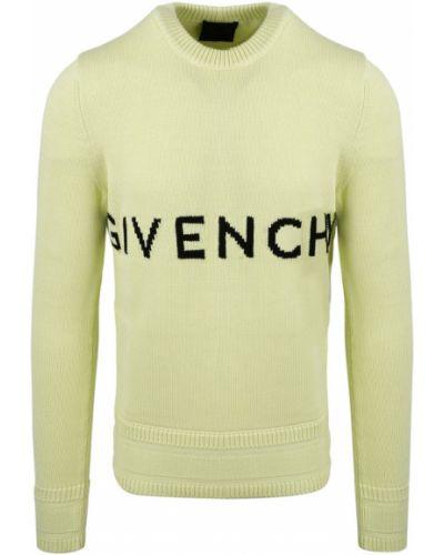 Sweter z printem - zielony Givenchy