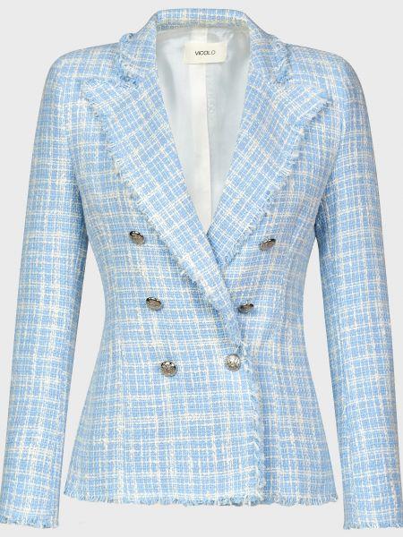 Пиджак на пуговицах - голубой Vicolo