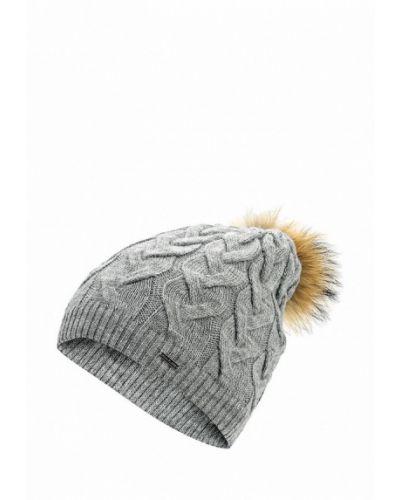 Серая шапка с помпоном Finn Flare