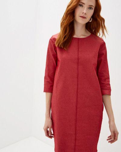 Джинсовое платье красный осеннее Massimiliano Bini