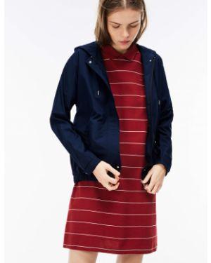 Куртка с капюшоном с карманами синий Lacoste