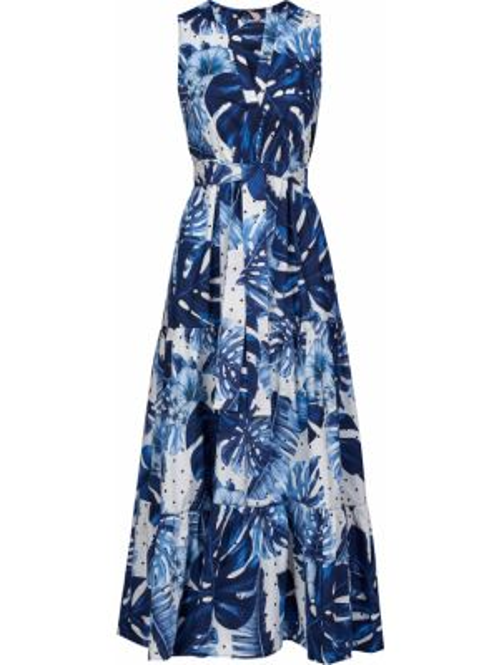 Хлопковое платье - голубое Twin-set