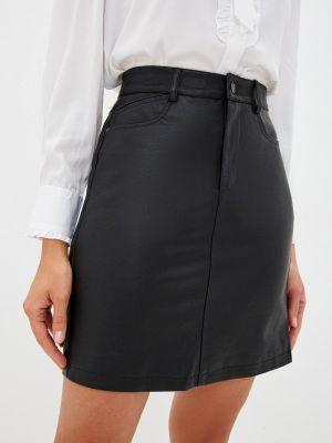 Кожаная юбка - черная Zabaione