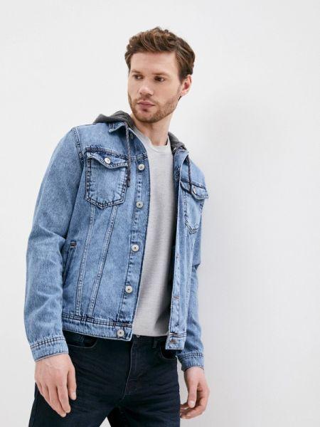 Синяя джинсовая куртка прозрачная Defacto