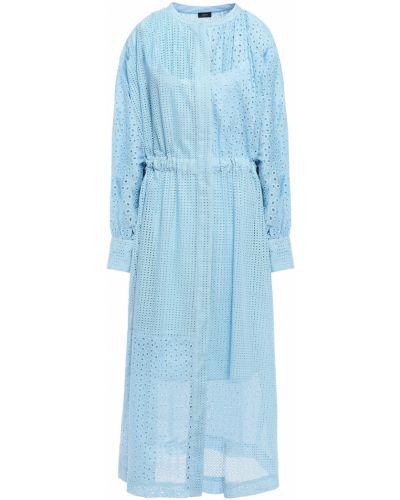 Хлопковое платье миди - синее Joseph