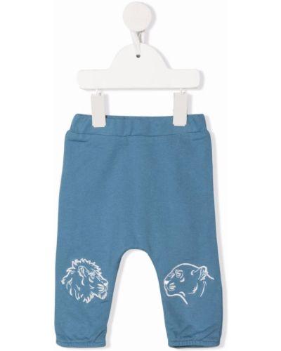 Niebieskie spodnie z printem Kenzo Kids