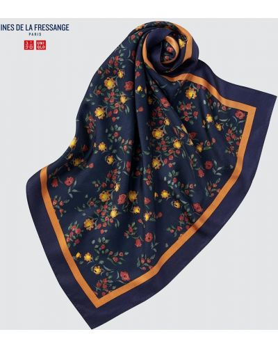 Синий платок классический Uniqlo
