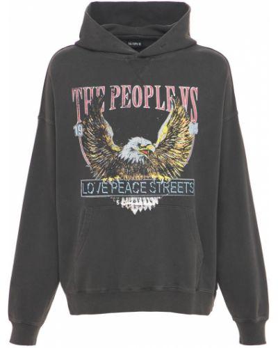 Czarna bluza z kapturem vintage The People Vs