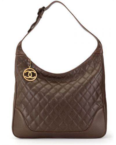 Сумка на плечо стеганая коричневый Chanel Vintage