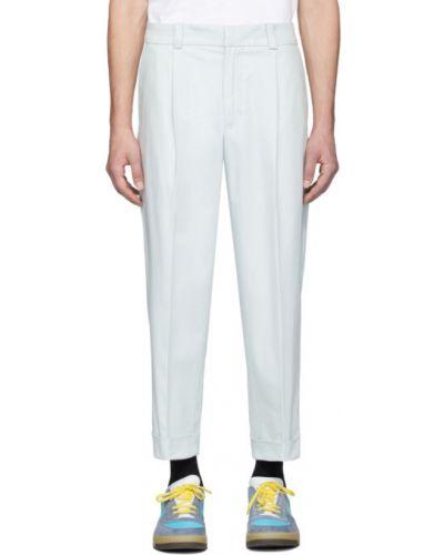 Bawełna spodni przycięte spodnie z kieszeniami z mankietami Acne Studios