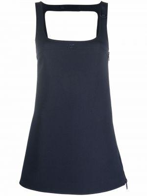 Niebieska sukienka bez rękawów Courreges