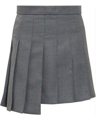 Szara spódnica plisowana Thom Browne