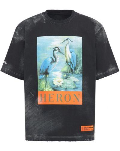 Лонгслив - черная Heron Preston