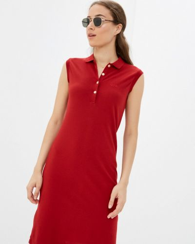 Красное платье осеннее Galvanni