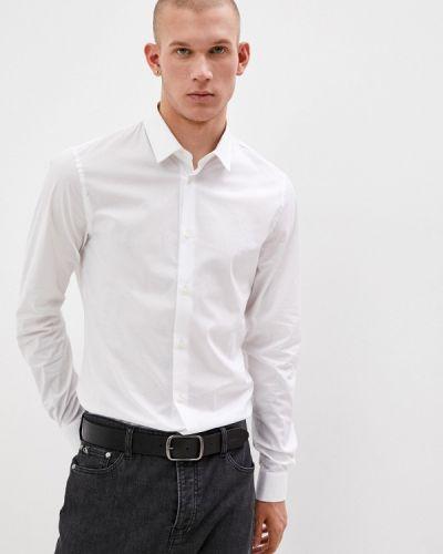Белая рубашка с длинным рукавом с длинными рукавами Trussardi