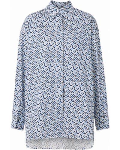 Niebieska koszula bawełniana Burberry