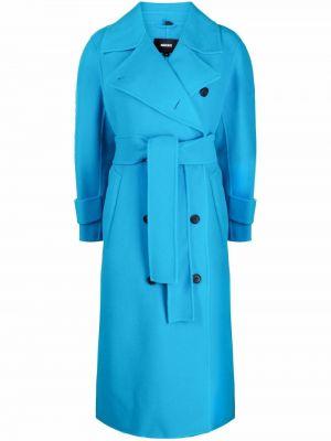 Шерстяное пальто - синее Mackage