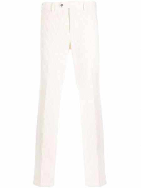 Białe spodnie sztruksowe Lardini