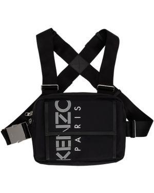 Рюкзак спортивный черный белый Kenzo