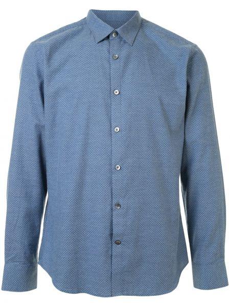 Niebieska koszula bawełniana w grochy Gieves & Hawkes