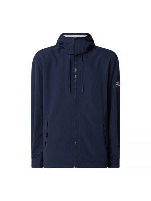 Niebieski kurtka jeansowa z kapturem ze stójką Tommy Jeans