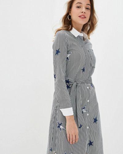 Платье серое платье-рубашка Mazal