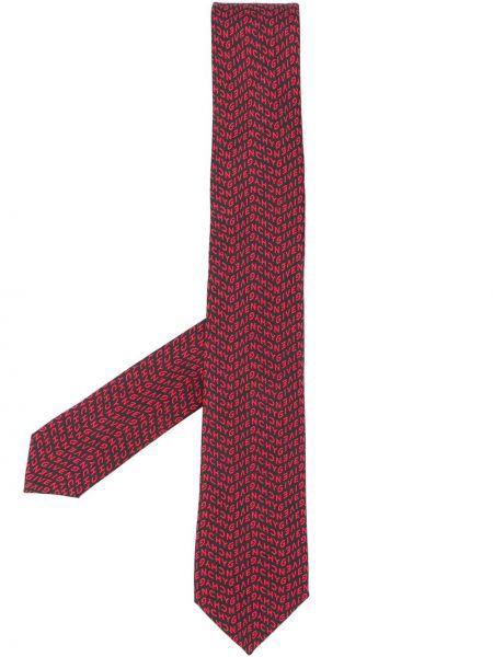 Jedwab czarny krawat z haftem Givenchy