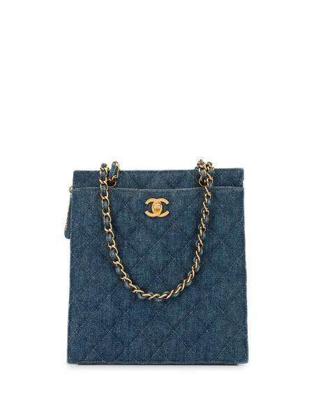 Кожаная сумка стеганая джинсовая Chanel Pre-owned