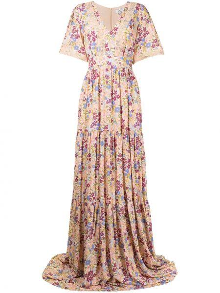 Розовое кружевное платье макси We Are Kindred