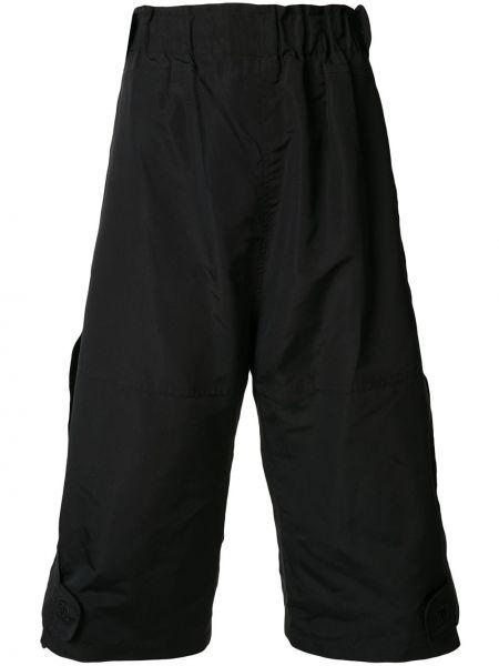 Шелковые черные спортивные шорты с поясом Chanel Pre-owned