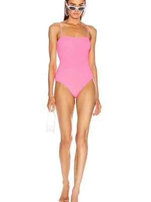 Розовый нейлоновый купальник Hunza G