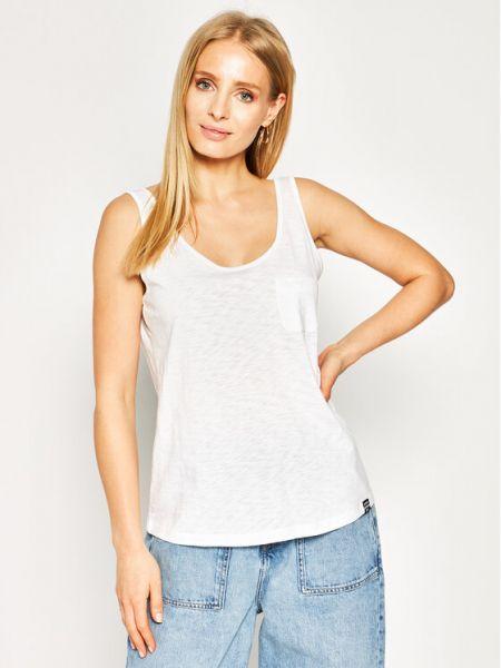 Koszulka oversize - biała Superdry