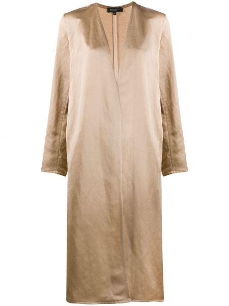 Бежевое длинное пальто Antonelli