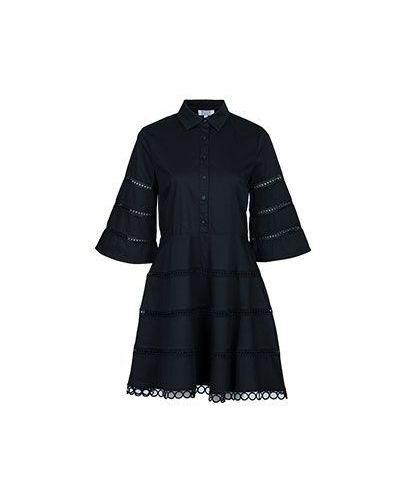 Черное хлопковое платье рубашка Brigitte Bardot