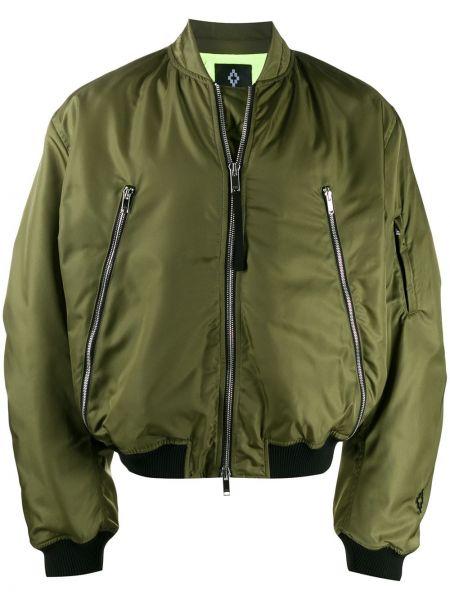 Długa kurtka na gumce zielona Marcelo Burlon County Of Milan