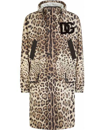 Czarny płaszcz z kapturem Dolce And Gabbana