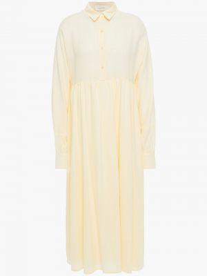 Хлопковое платье миди - желтое American Vintage